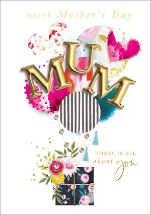 Mother's Day Card Balloons Gift All About You