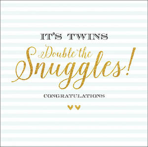 Baby Card Twins Snuggles