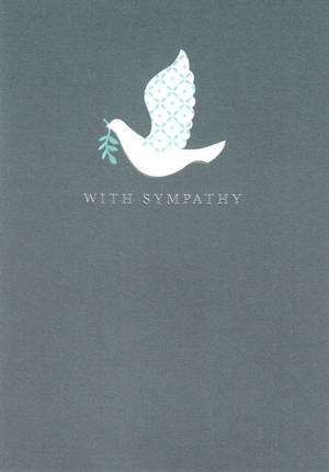 Sympathy Card White Dove