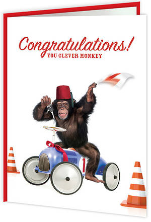 Congratulations Card Driving Test Clever Monkey