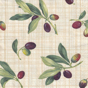 Lunch Paper Napkins Olive Grove Natural