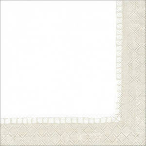 Lunch Paper Napkins Linen Natural