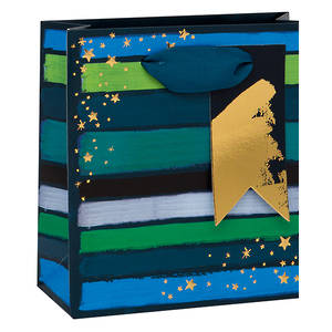 Small Gift Bag Paper Salad Geo Blue