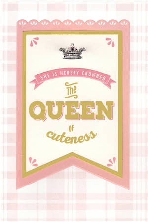 Baby Card Girl Hallmark Queen of Cute