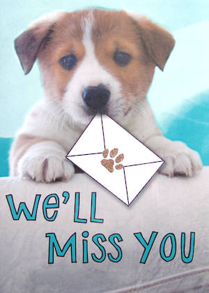 Jumbo Card Goodbye Puppy