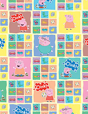 Folded Wrapping Paper Peppa Pig