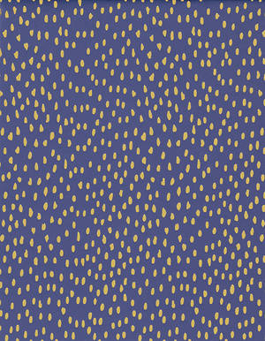 Folded Wrapping Paper Gold Dots Navy