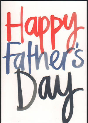 Father's Day Card Blue Red