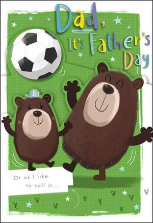 Father's Day Card Soccer Bears