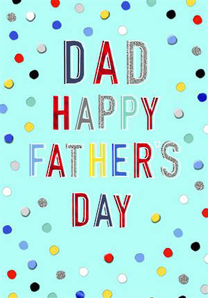 Father's Day Card Happy Father's Day
