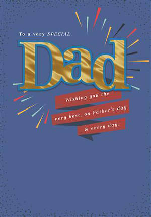 Father's Day Card Gold Dad