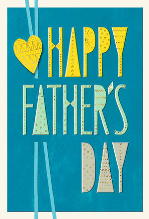 Father's Day Card Blue Yellow