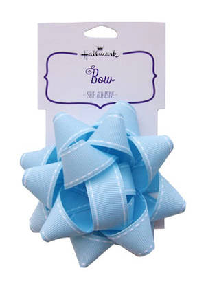 Fabric Bow Light Blue
