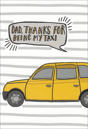 Father's Day Card Humour Taxi