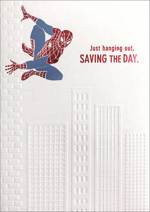 Father's Day Card Spiderman Saving The Day