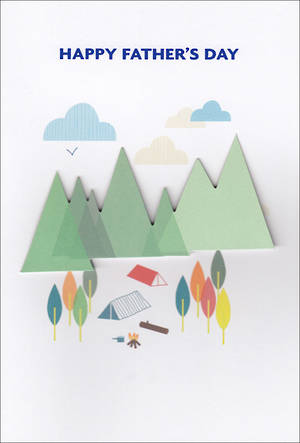 Father's Day Card Camping
