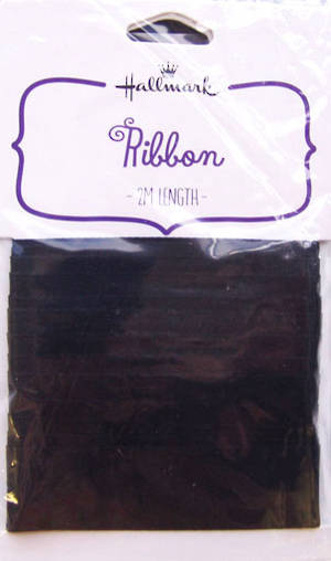 Fabric Ribbon Black Satin