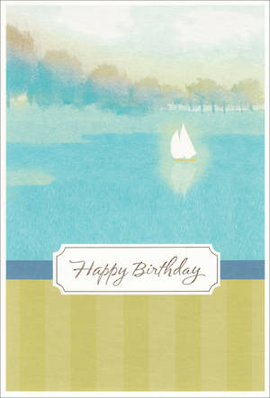 His Birthday Card Sails On Water