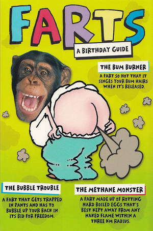 His Birthday Card Monkey Farting