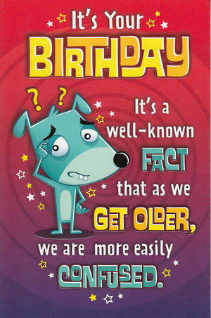 His Birthday Card Humour Cartoon Dog