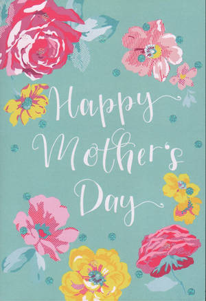 Mother's Day Card Hallmark Blue With Flowers