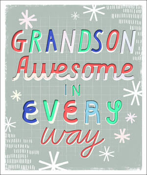 Chirstmas Card Grandson Awesome