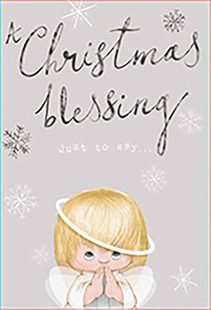 Chirstmas Card Angel Blessing