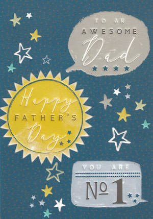 Father's Day Card Halcyon Awesome Dad