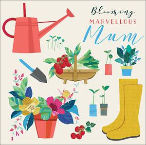 Mother's Day Card Glow Blooming Marvellous