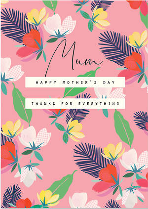 Mother's Day Card Rio Brights Thanks Floral