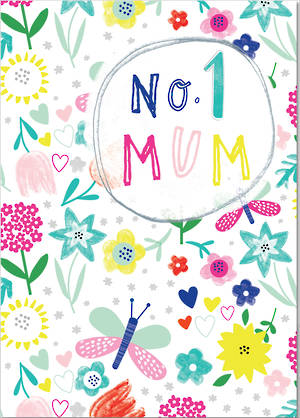 Mother's Day Card Scribbles No 1 Mum
