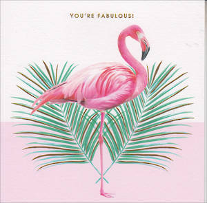 Her Birthday Card Pink Flamingo