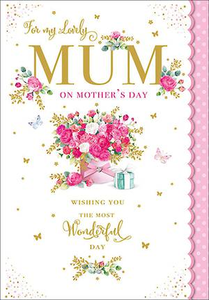 Mother's Day Card Pink Bouquet