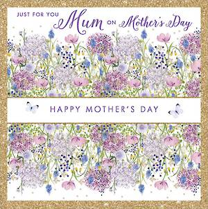 Mother's Day Card Ditsy Band Flowers