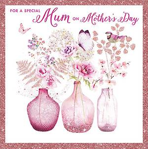 Mother's Day Card Vases
