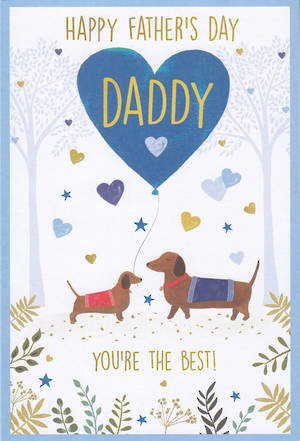 Father's Day Card Sausage Dogs