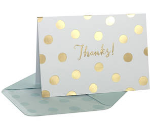 Box of 10 Notecards Gold Spots
