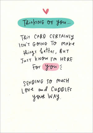 Sympathy Card Thinking of You Message