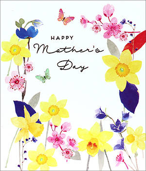 Mother's Day Card Delphine Daffodils