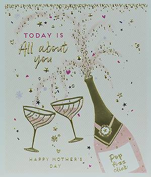 Mother's Day Card All About You Champagne