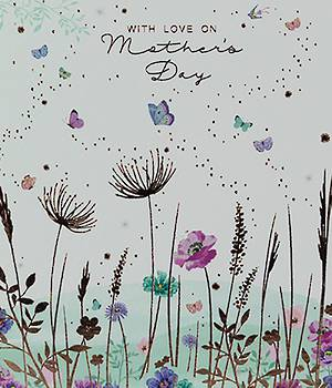 Mother's Day Card Butterfly Meadow