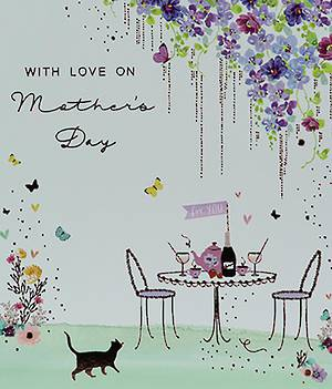 Mother's Day Card With Love Tea Party