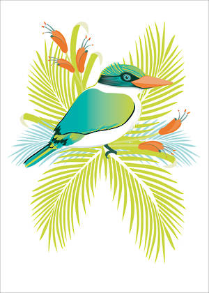 New Zealand Card Birds Of A Feather Kotare