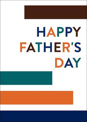 Father's Day Card Pure NZ Colour Blocks