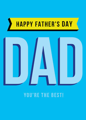 Father's Day Card You're The Best