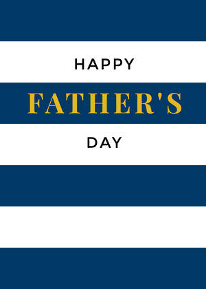 Father's Day Card Blue And White Strips