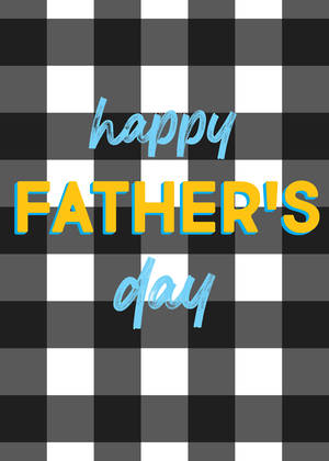 Father's Day Card Gingham