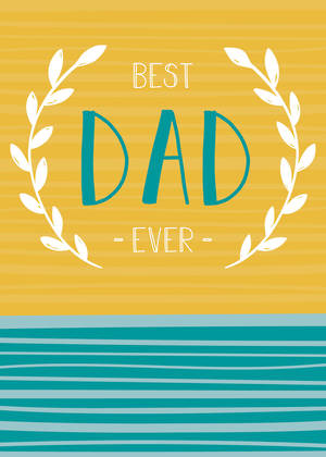 Father's Day Card Best Dad Wreath