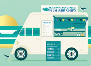 New Zealand Card Greg Straight Fish & Chips