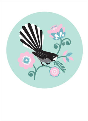 New Zealand Card Greg Straight Fantail Dot